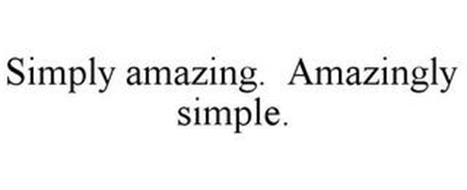 SIMPLY AMAZING. AMAZINGLY SIMPLE.