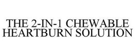 THE 2-IN-1 CHEWABLE HEARTBURN SOLUTION