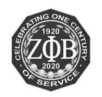 CELEBRATING ONE CENTURY OF SERVICE 1920 2020 Z B
