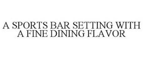 A SPORTS BAR SETTING WITH A FINE DINING FLAVOR