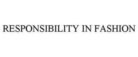 RESPONSIBILITY IN FASHION