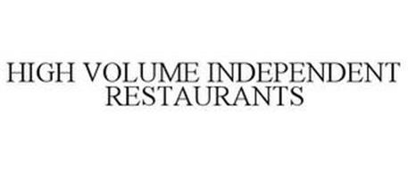 HIGH VOLUME INDEPENDENT RESTAURANTS