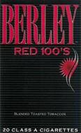 BERLEY RED 100'S BLENDED TOASTED TOBACCOS 20 CLASS A CIGARETTES