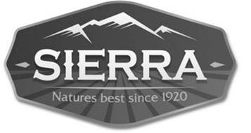 SIERRA NATURES BEST SINCE 1920