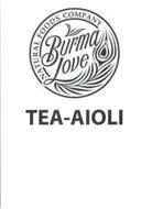 BURMA LOVE NATURAL FOODS COMPANY TEA-AIOLI