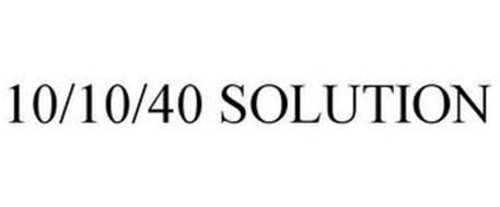 10/10/40 SOLUTION
