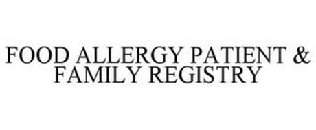 FOOD ALLERGY PATIENT & FAMILY REGISTRY