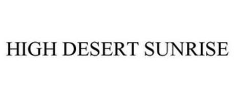 HIGH DESERT SUNRISE