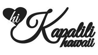 HI KAPALILI HAWAII