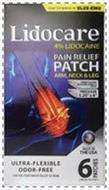 FROM THE MAKERS OF BLUE-EMU LIDOCARE 4%LIDOCAINE PAIN RELIEF PATCH ARM, NECK & LEG PATENT PENDING PRESSURE ADHESIVE PATCH PATCH SIZE 1.25