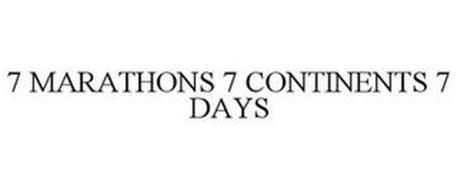 7 MARATHONS 7 CONTINENTS 7 DAYS