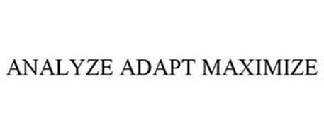 ANALYZE ADAPT MAXIMIZE