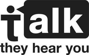 TALK THEY HEAR YOU