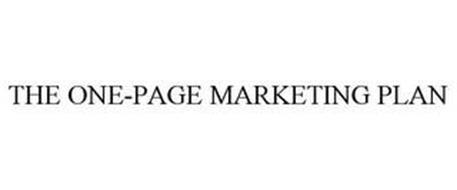 THE ONE-PAGE MARKETING PLAN