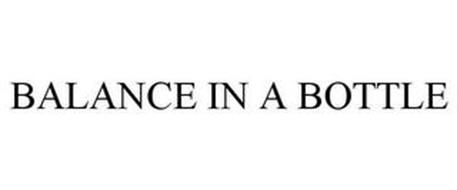 BALANCE IN A BOTTLE