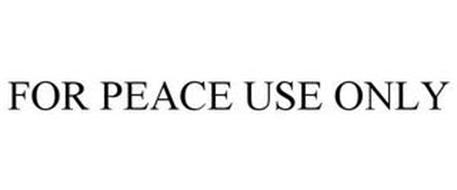 FOR PEACE USE ONLY