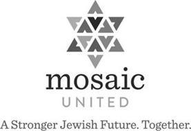MOSAIC UNITED A STRONGER JEWISH FUTURE.T