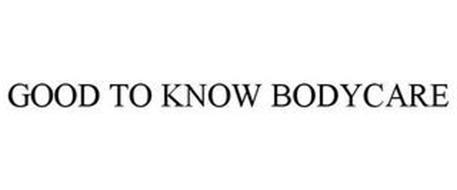 GOOD TO KNOW BODYCARE