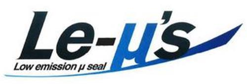 LE-µ'S LOW EMISSION µ SEAL