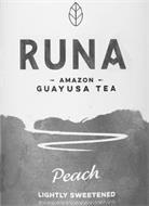 RUNA AMAZON GUAYUSA TEA PEACH LIGHTLY SWEETENED