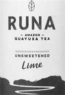 RUNA AMAZON GUAYUSA TEA UNSWEETENED LIME