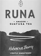 RUNA AMAZON GUAYUSA TEA HIBISCUS BERRY LIGHTLY SWEETENED