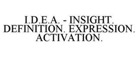 INSIGHT DEFINITION EXPRESSION ACTIVATION IDEA