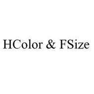 HCOLOR & FSIZE