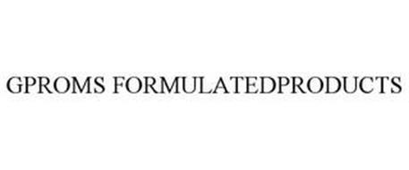 GPROMS FORMULATEDPRODUCTS
