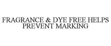 FRAGRANCE & DYE FREE HELPS PREVENT MARKING