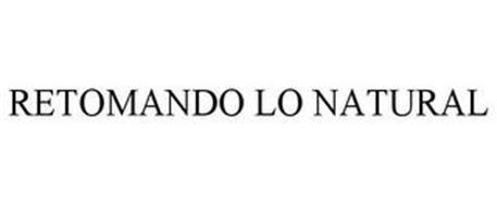 RETOMANDO LO NATURAL