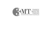 3MT THREE MINUTE THESIS FOUNDED BY THE UNIVERSITY OF QUEENSLAND