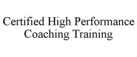 CERTIFIED HIGH PERFORMANCE COACHING TRAINING