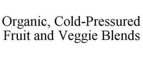 ORGANIC, COLD-PRESSURED FRUIT AND VEGGIE BLENDS