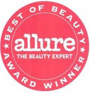 ALLURE THE BEAUTY EXPERT BEST OF BEAUTYAWARD WINNER