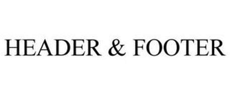 HEADER & FOOTER