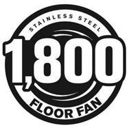 STAINLESS STEEL 1,800 FLOOR FAN