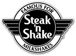 STEAK 'N SHAKE FAMOUS FOR MILKSHAKES