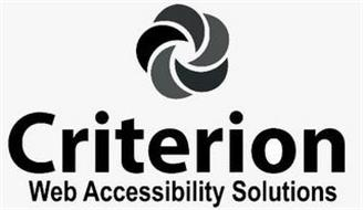 CRITERION WEB ACCESSIBILITY SOLUTIONS