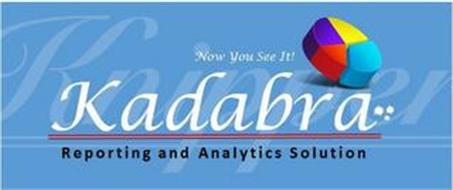 KADABRA NOW YOU SEE IT! REPORTING AND ANALYTICS SOLUTION