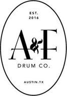 A&F DRUM CO. EST. 2016 AUSTIN, TX