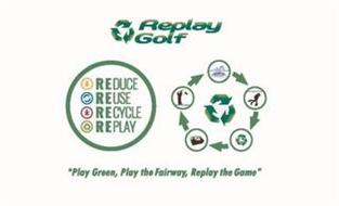 REPLAY GOLF REDUCE REUSE RECYCLE REPLAY