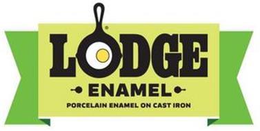 LODGE ENAMEL PORCELAIN ENAMEL ON CAST IRON