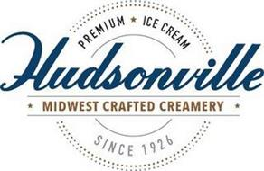 HUDSONVILLE MIDWEST CRAFTED CREAMERY PREMIUM ICE CREAM SINCE 1926