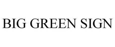 BIG GREEN SIGN