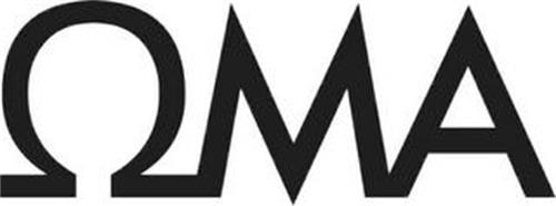 A STYLIZED UPPERCASE OMEGA SYMBOL FOLLOWED BY A STYLIZED LETTER M AND A STYLIZED LETTER A