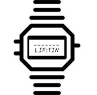 THE WORD LIFTING IS SPELLED LIF:TIN IN THE LOGO IN THE ALARM CLOCK FONT