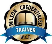 WILSON CREDENTIALED TRAINER W.C.T.