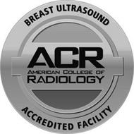 BREAST ULTRASOUND ACR AMERICAN COLLEGE OF RADIOLOGY ACCREDITED FACILITY