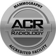 MAMMOGRAPHY ACR AMERICAN COLLEGE OF RADIOLOGY ACCREDITED FACILITY